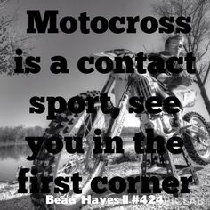My son Beau Hayes #424. I'm so proud of his accomplishments in motocross. Beau has qualified for Loretta Lynn's several times in his racing career. Beau is now focused on his college career in engineering and works full time. Still finds time for his passion in racing! I am one proud mom!