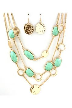 Layered Mint Kali Necklace