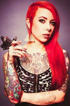 Megan Massacre // Red Hair // Tattoos // Piercings