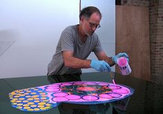 Bruce Riley, Psychedelic Poured Resin Artist