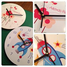Personalised Clocks - Boys - For Baby - Gifts