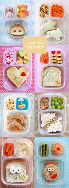 I usually (read: always) feel totally uninspired when it comes to filling my kids' lunchboxes... Maybe I should give Lisa Storms' ideas a try? I have got plenty of cookie cutters in the deep dungeons of my kitchen cabinets and these look kind of manageable, don't they?