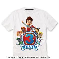 Paw patrol Birthday Shirt iron on transfer by lauraspartyshop - digital file only