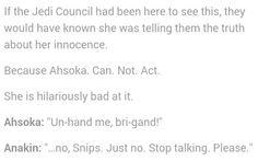 Ahsoka's acting skills