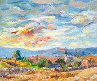 CSÁKI-MARONYÁK JÓZSEF (1910-2002)- Balatoni táj | axioart.com