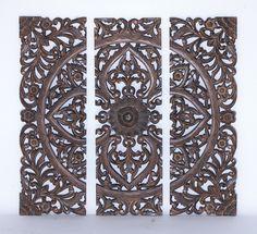 Woodland Imports Wood Wall Panel (Set of 3) | Wayfair