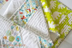 Personalised modern baby quilt  you choose by SophieBelleDesigns, €120.00