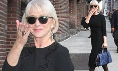 Helen Mirren, 70, works timeless glamour as she steps out wearing LBD