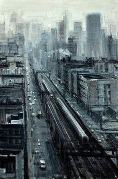 Train Tracks In The City by Valerio D'Ospina