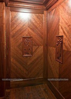 thang máy cabin ốp gỗ tại ninh bình