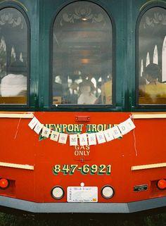 The getaway trolley! #wedding