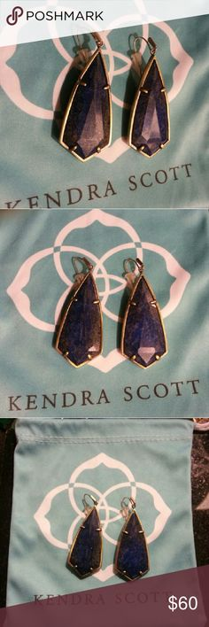NEW LAPIS BRASS CAROLINE EARRINGS KENDRA SCOTT NEW LAPIS CAROLINE EARRINGS WITH BRAS SETTING  BRAND NEW, DOES NOT COME WITH DUST BAG HOWEVER I DO HAVE A   SMALL WHITE BOX FOR THEM. I WILL SHIP THE VERY NEXT MORNING  AFTER THEY ARE PURCHASED. PRICE IS FIRM. I HAVE OTHER MARA   HOFFMAN, FREE PEOPLE, KATE SPADE AND KENDRA LISTED AS WELL :)  CAN BUNDLE AND SHIP ALL TOGETHER :) Kendra Scott Jewelry Earrings