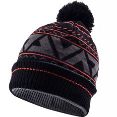 Sealskinz Waterproof Bobble Hat - Black/Tarmac/Fireworks  Price: £28.00 A stylish, totally waterproof, windproof and breathable classic knitted beanie with a pom-pom bobble on top. This close-fitting, comfortable beanie is suited to a multitude of uses from adventuring to socialising. Totally waterproof, breathable and windproof. Acrylic knitted outer increases durability. Micro fleece inner lining provides warmth and moisture control.