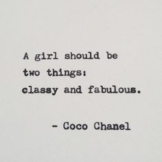 Coco Chanel Quote / Vintage Typewriter Quote / Hand by typedwords