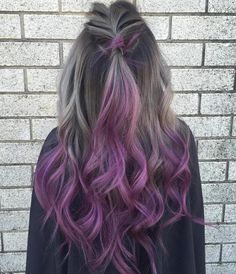 Ash Brown To Purple Ombre