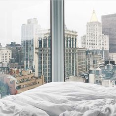 Dreaming of this view at Arlo NoMad NYC 💭 PC @hunterjacksonn    For more hotels inspo follow @CollectedHarmony on Instagram! Beautiful Hotels, San Francisco Skyline, Skyscraper, Multi Story Building, Interior, Wedding, Travel, Instagram, Viajes