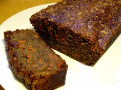 Healthy Dessert: Carrot Zucchini Bread  I would use almond or oatmeal flour and coconut sugar.