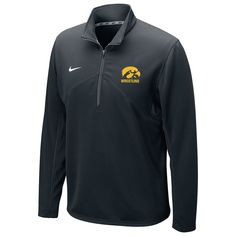 Iowa Hawkeyes Wrestling Nike Dri-Fit Training 1/4 Zip Top