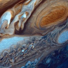 Today, our Juno spacecraft arrives at Jupiter. This is the first time a spacecraft will orbit the poles of Jupiter, providing new answers to ongoing mysteries about the planet's core, composition and magnetic fields. This image is from January and February 1979, when our Voyager 1 spacecraft captured this close-up of swirling clouds around Jupiter's Great Red Spot. The observations revealed many unique features of the planet that are still being explored to this day.  At about 89,000 miles…