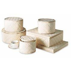 Natural cotton china storage set from the Container Store - for storing family bone china