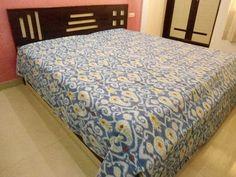 #Ikat #Kantha #Bedcover #Handmade Fine Stitch Ikat #Bedding #Indian #Kantha #Quilt | #eBay #handicrunch