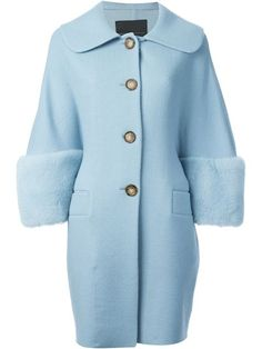 Shop Ermanno Scervino oversized mink fur inserts coat in Dany May from the world's best independent boutiques at farfetch.com. Over 1000 designers from 60 boutiques in one website.