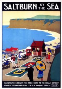 Saltburn by the Sea, Cleveland. LNER Railway Travel Poster Print