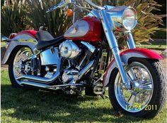 2002 Harley Fat Boy.  Nice pipes.
