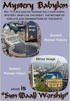 """Roman Catholic Church today is the CENTER of SUN WORSHIP (arguably - authentic illuminism), which is mystery religion """"Sun (Baal) Worship"""" the """"Grand Design Exposed"""". Revelation 17, Sun Worship, Babylon The Great, Bible Truth, Truth Quotes, Thing 1, New World Order, Cristiano, Atheism"""