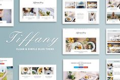 Tiffany - Clean & Simple Blog Theme by GiaThemes on @creativemarket