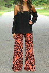 Vogue Abstract Print Wide Leg Pants For Women (AS THE PICTURE,L) | Sammydress.com Mobile