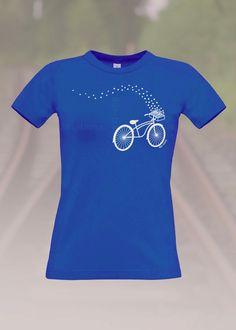 T-Shirts mit Print - T-Shirt Fahrrad Womens Bär-leena (fairer Handel) - ein Designerstück von Baer-leena bei DaWanda