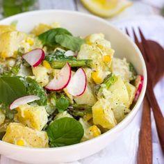 Grilled Asparagus & Corn Potato Salad with a Creamy Lemon Dijon Dill ...