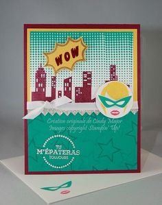 Cindy Major: Encre, Papier, Ciseaux:  Featuring Calling All Heroes - My Stamping Hero - 7/27/14