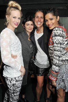 "JanuaryJone & Audrey Tautou & Isabel Marant & Freida Pinto at ""ISABEL MARANT POUR H&M LAUNCH PARTY in PARIS"" Red Carpet!"