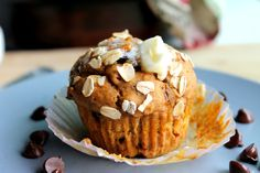 Low-fat Pumpkin Oatmeal Chocolate Chip Muffins