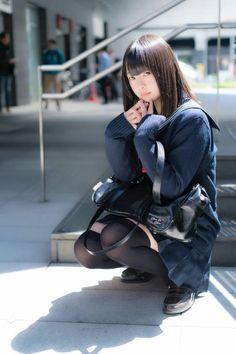 School Girl Dress, School Girl Japan, School Uniform Girls, Girls Uniforms, Japan Girl, School Uniforms, Cute Asian Girls, Cute Girls, Japonesas Hot