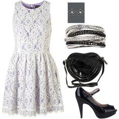 lavender under lace dress
