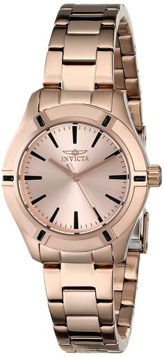"""Invicta Women's 18031 """"Pro Diver"""" Rose Gold-Tone Stainless Steel Watch"""