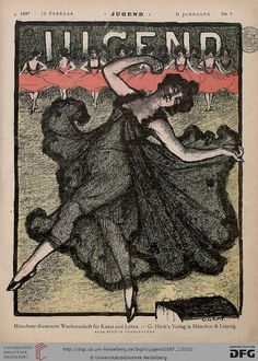 Die Jugend ( coming from Jugendstil) , an Art and Literature Magazine founded by Georg Hirth, that existed from 1896 - 1940 in München. Vintage Advertisements, Vintage Ads, Vintage Posters, Vintage Prints, Art Nouveau, Old Magazines, Vintage Magazines, Belle Epoque, Cover Art