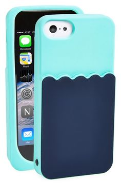 kate spade new york 'scallop pocket' card holder iPhone 5 & 5s case available at #Nordstrom