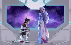 Keith proposes to Princess Allura in marriage from Voltron Legendary Defender Form Voltron, Voltron Ships, Voltron Klance, Voltron Allura, Interracial Art, Keith And Allura, Princess Allura, Voltron Force, Voltron Comics