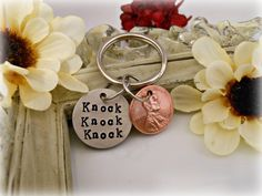 """Hand Stamped """"Knock Knock Knock Penny"""" Key Chain Big Bang Theory Inspired TBBT on Etsy, $15.00"""