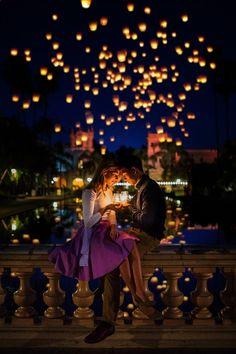 Lauren and Thomas Engagement Photos-Tangled Disney