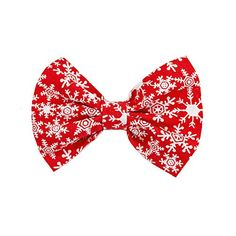 Crimson Snowflake Dog and Cat Bowtie (Large) * To view further for this item, visit the image link.