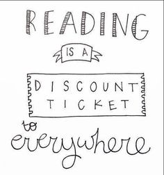 #100happydays #Day87 Reading is a discount ticket to everywhere.