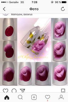 One Stroke Nails, Flower Nails, Hair Beauty, Beauty Nails, Makeup, Painting, Ideas, Cool Nail Art, Nail Art Designs