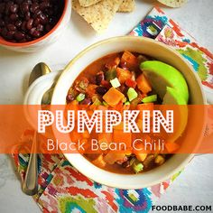 Pumpkin Black Bean Chili – Perfect For A Weeknight Meal