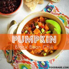 Pumpkin Black Bean Chili- Perfect For A Weeknight Meal