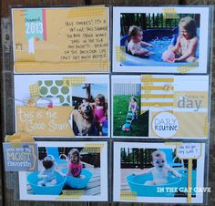 What an adorable layout made with some of the pocket cards from the Rise and Shine MDS download.